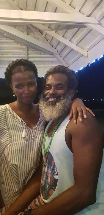 Tecra Muigai Karanja (left) and her boyfriend Omar Lali (right)