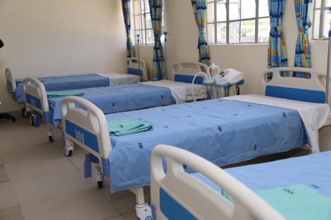 Hospital beds at a Coronavirus isolation and treatment facility in Mbagathi District Hospital on Friday, March 6, 2020.