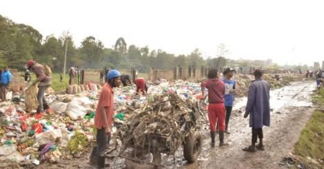 Garbage collection exercise in Nairobi in January 2021.