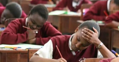 File image of KCSE students in Kenya