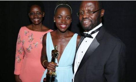 Kisumu first lady Dorothy Nyong'o(left) with and Governor Anyang' Nyong'o.
