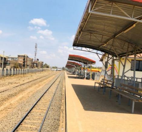 A refurbished railway station in Nairobi
