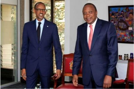 President Uhuru Kenyatta and Rwanda President Paul Kagame