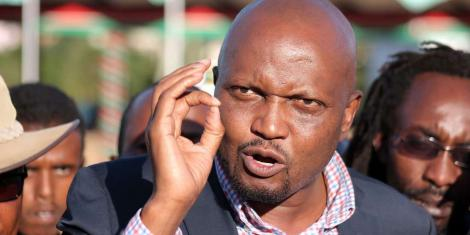 Gatundu South MP Moses Kuria addressing the media at Uhuru Park, Nairobi on January 29, 2018