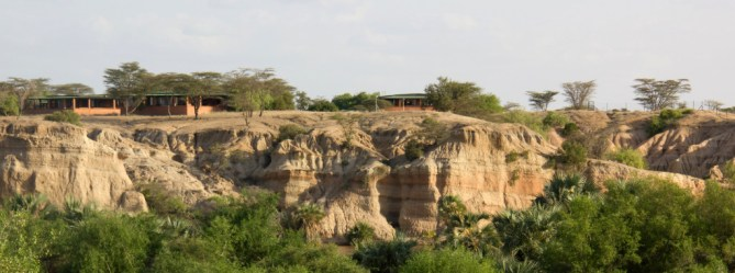 View of the TBI-Turkwel campus above the Turkwel River