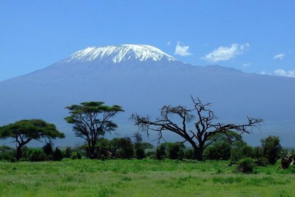 Mount Kilimanjaro seen from Amboseli Kenya safaris