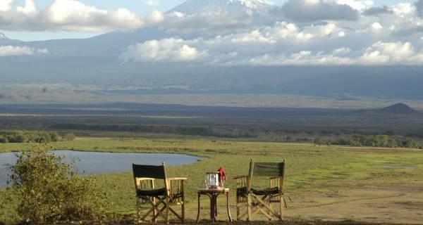 Amboseli beautiful view backdropped by Mount Kilimanjaro Kenya safari Africa