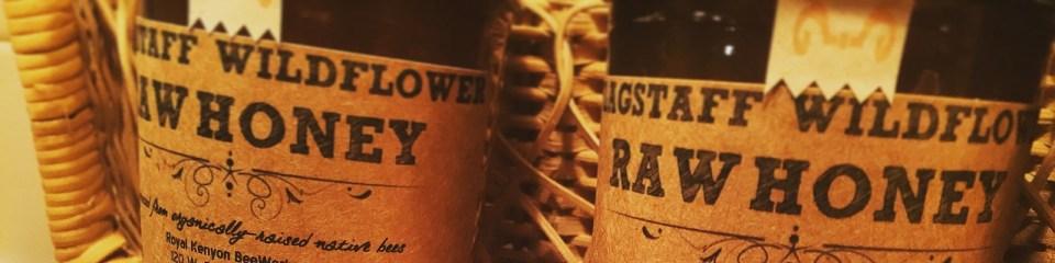 raw flagstaff honey jars