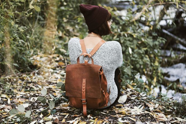 Leather backpack 12