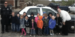 PreK Safety Visit From Officer Johnson