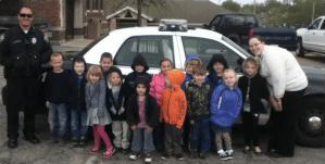 PreK Safety Visit From Officer Johnson