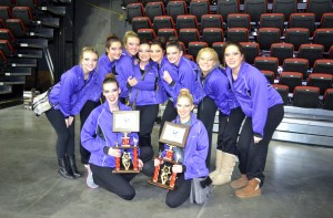 Little Feathers with a 2nd place finish in Kick and Novelty at State competition in Des Moines.