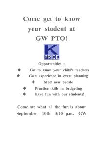 GW PTO News