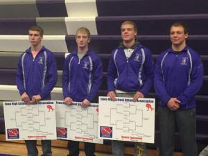 Four Wrestlers To State, Three District Champs!