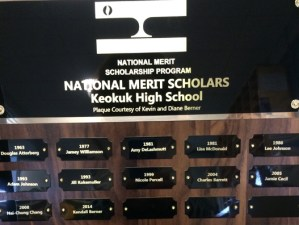 National Merit Plaques to be Presented May 10