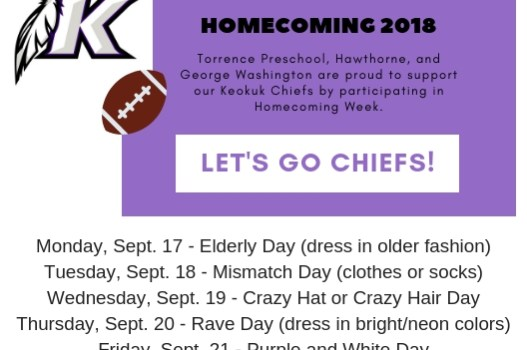 Homecoming 2018 for PK-5