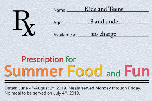Summer Lunch Program Begins June 4