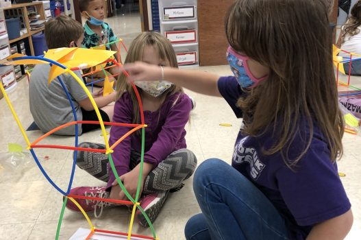 Exciting pictures of some kindergarten engineers!