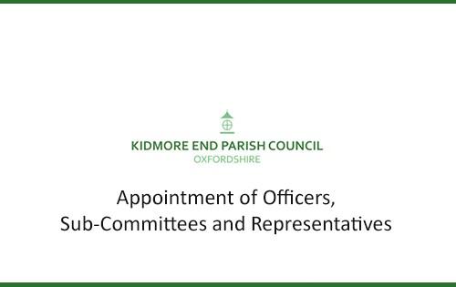 new appointment of councillors kidmore end parish council oxfordshire