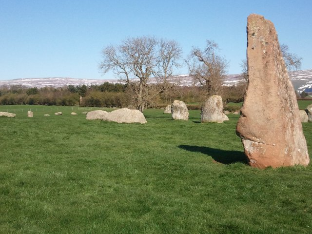 Long Meg - a Bronze Age British stone circle from much further north