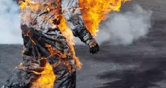 tentative de s'immolation