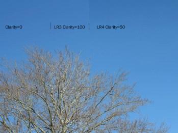 Baseline, LR 3 Clarity=100, LR 4 Calrity=50