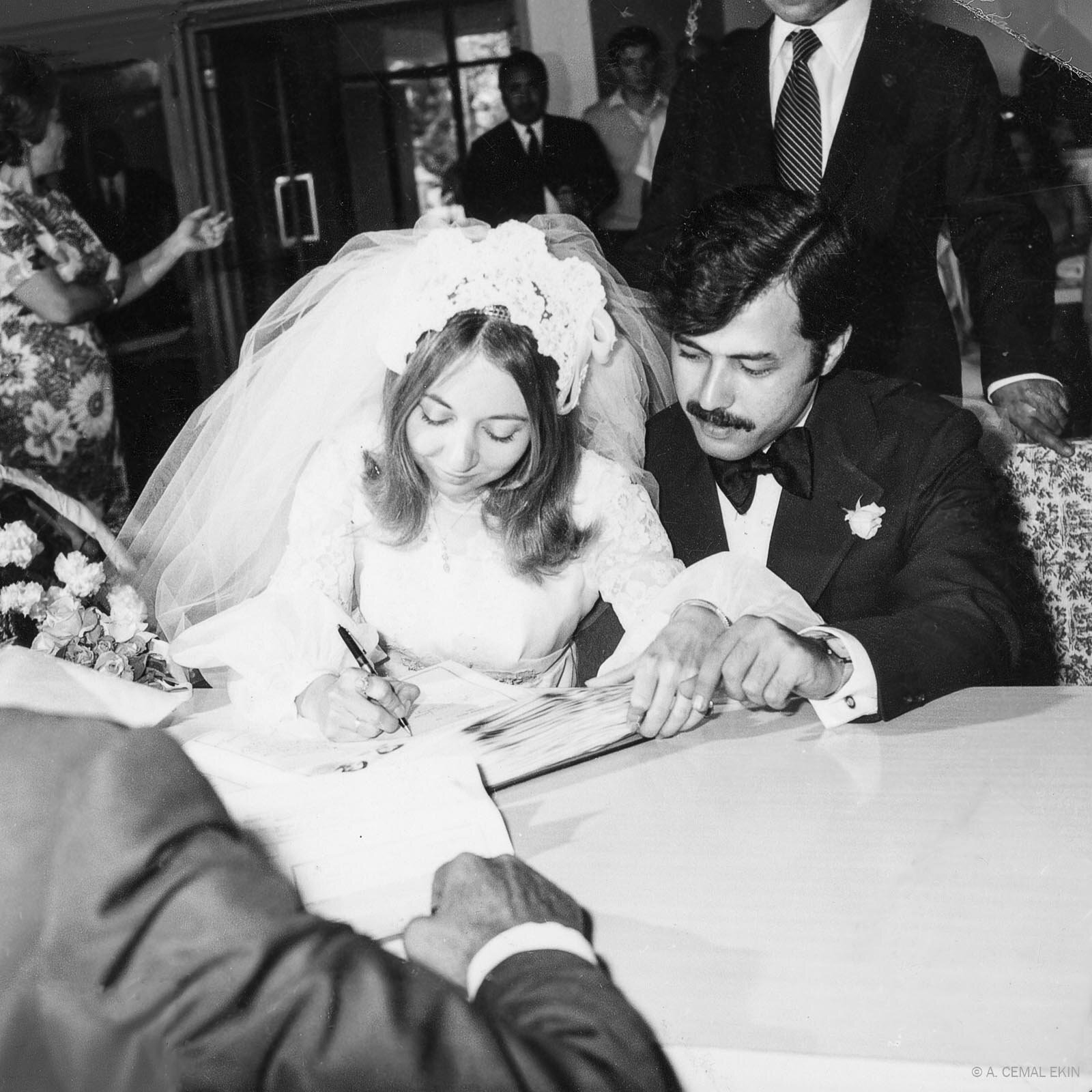 Jan, Cemal wedding day May 20, 1971