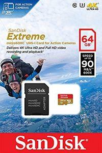 MicroSD 4K Confezione MicroSDXC U3 UHS-I Sandisk
