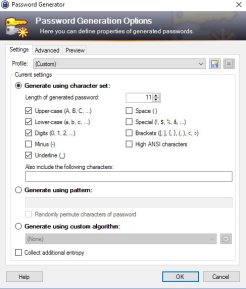 Gestire le password con Keepass - Password generator