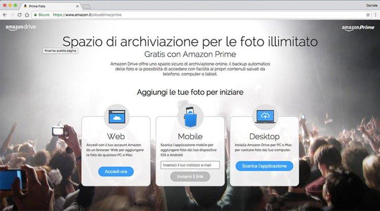 Prime Foto pagina login