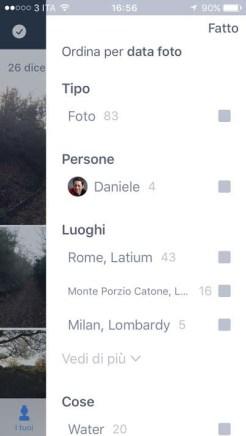App Prime Foto - Filtri