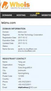 Siti truffa - verifica dati dominio