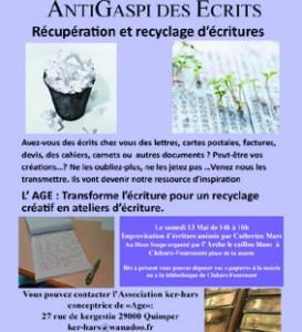 Recupération et recyclage des écrits