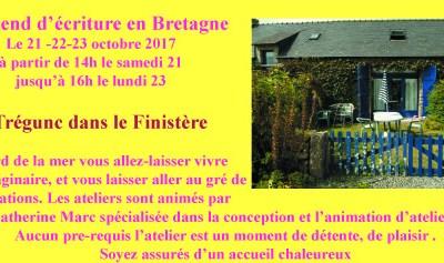 Weekend d'écriture en Bretagne