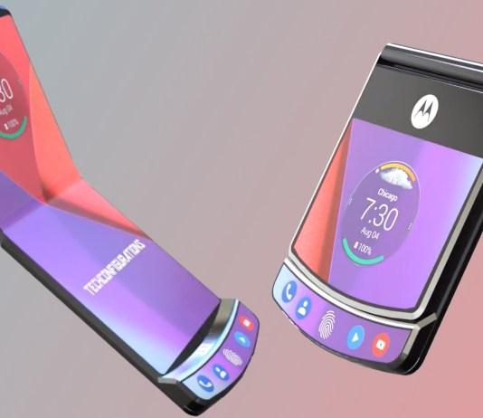 Razor folding smartphone