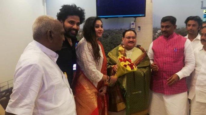 actress namitha BJP