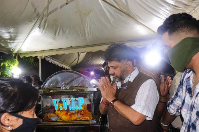 Meghana Raj Husband Chiranjeevi Sarja Funeral Photos 003