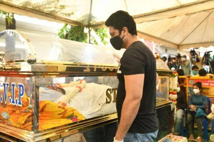 Meghana Raj Husband Chiranjeevi Sarja Funeral Photos 005
