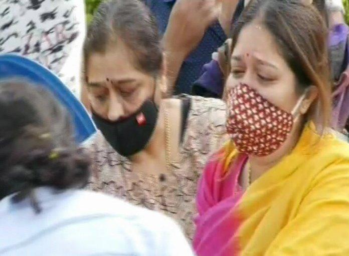 Meghana Raj Husband Chiranjeevi Sarja Funeral Photos 014