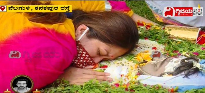 Meghana Raj Husband Chiranjeevi Sarja Funeral Photos 023