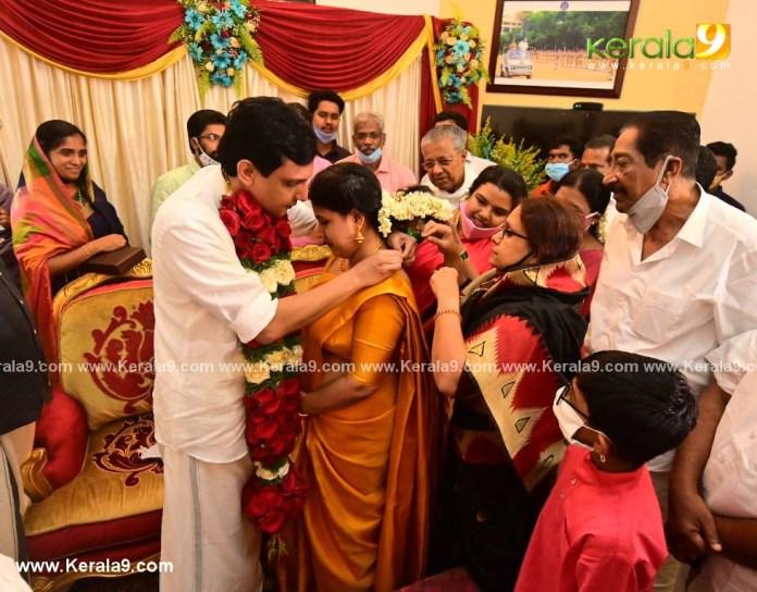pinarayi vijayan daughter marriage photos 005