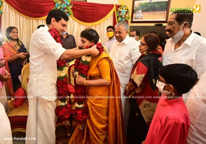 pinarayi vijayan daughter marriage photos 006