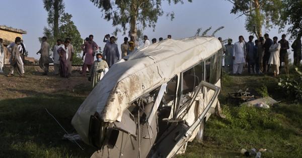 Bus train collide