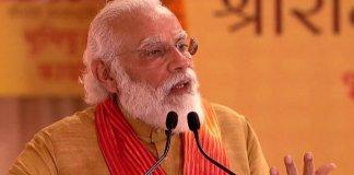 Narendra Modi lays foundation stone for Ayodhya Ram Temple