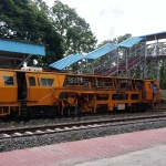 Security check on the Palakkad – Pollachi Railway track