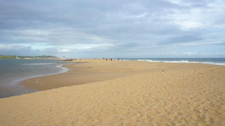 Poovar beach and estuary