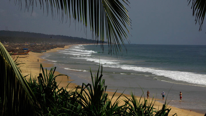 Chowara beach near kovalam
