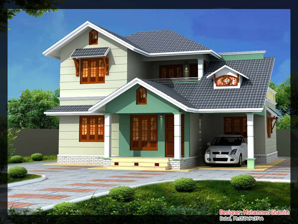 Villa Design in India (with Plan and Elevation) : 1637 sq.Ft