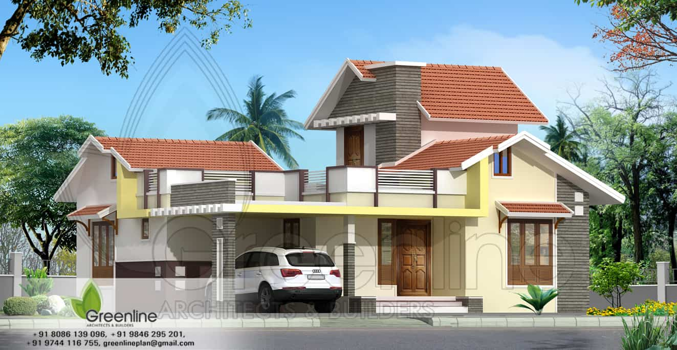 Bedroom Village Style Home Design Indian House Front View