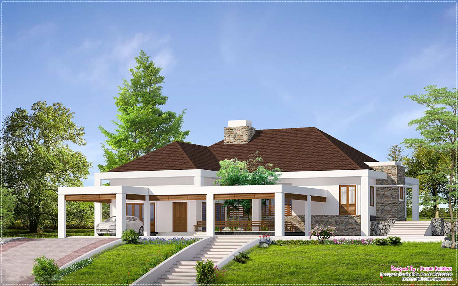 ^ Single Story House Plans Designs. wooden modern your dream ...